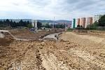 Výstavba tramvajové trati ze zastávky Osová do Univerzitního kampusu v Brně.