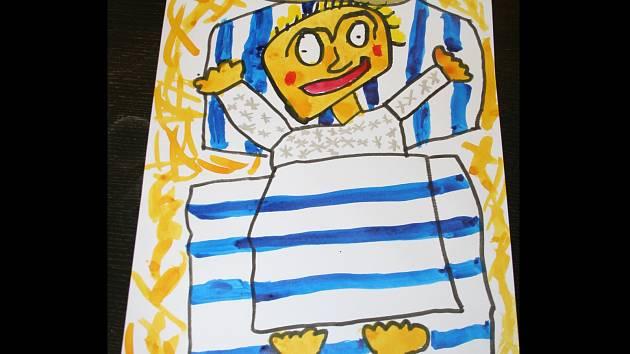 Takto Ježíška nakreslil pětiletý Martin Vašíček z Břeclavi.