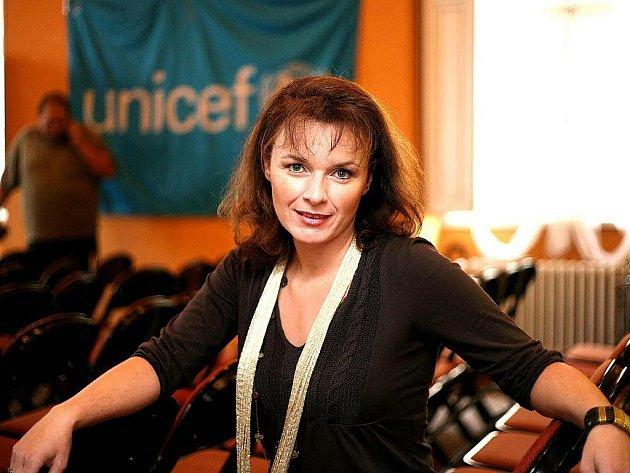 Bára Munzarová byla patronkou akce Unicef dětem.