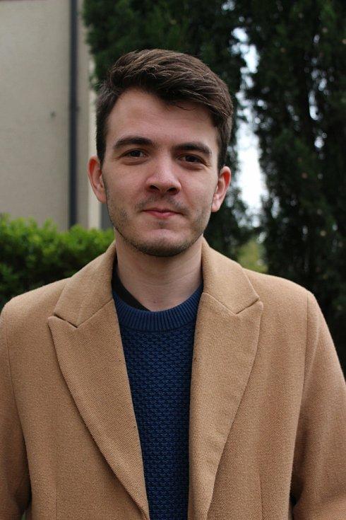 Dobrovolník David Chlup.