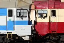 Srážka vlaků na hlavním nádraží v Brně.