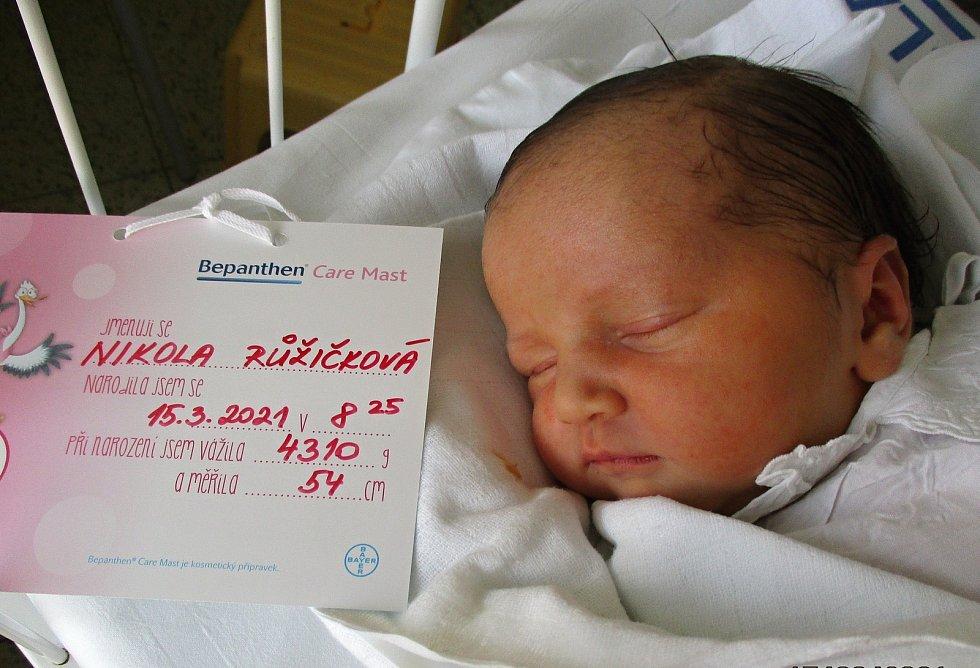 Nikola Růžičková, 15. 3. 2021, Valtice, Nemocnice Břeclav, 4310 g, 54 cm