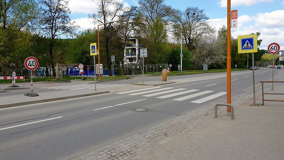 Bauerova ulice v Brně, 8. května 2021.