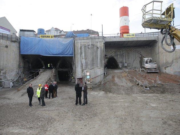Ražba Královopolských tunelů.