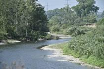 Suchá řeka Bečva, ilustrační foto