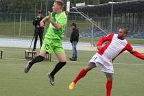 Brno (v červeném) hostí v Superlize malého fotbalu Most.