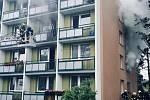 Požár bytu v ulici Mozolky v brněnských Žabovřeskách.