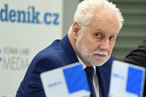 Debata Deníku Rovnost - na snímku jihomoravský hejtman Bohumilem Šimkem.
