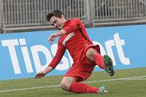 Petr Buchta při oslavě gólu.