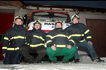 Dobrovolní hasiči z Vlasatic na Brněnsku.