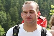 Horolezec Jan Říha.