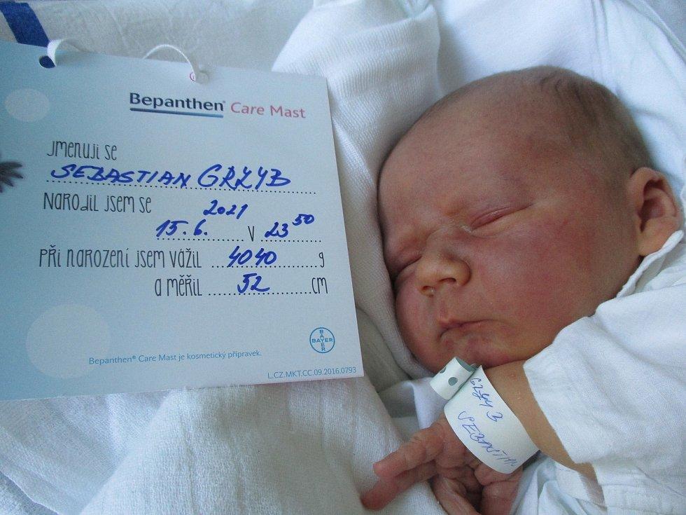 Sebastian Grzyb, 15. června 2021, Dobré Pole, Nemocnice Břeclav, 4040 g, 52 cm