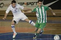 Futsalista brněnského Tanga Michal Belej (v bílém).