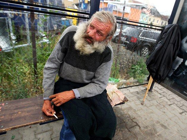 Bezdomovec Rostislav Mamula.