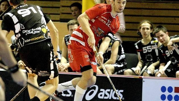 Florbalista Martin Koutný na archivním snímku ještě v dresu Bulldogs Brno. Nyní hraje za Chodov.