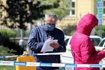 Plošné testování na Moravském náměstí v Brně v sobotu 25. dubna.