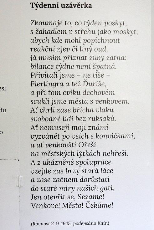 Rajhradský Památník písemnictví na Moravě vytvořil výstavu, jež připomíná sté výročí narození básníka, dramatika, skladatele a bývalého redaktora Rovnosti Josefa Kainara.
