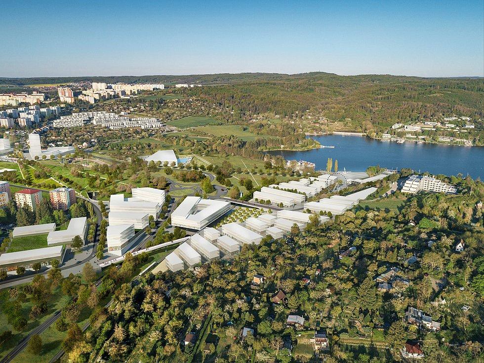 Nadhledová vizualizace přístaviště z dílny kanceláře Ing. arch. Pavel Jura ve spolupráci sFAST VUT.