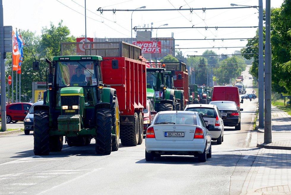 Protesty zemědělců.