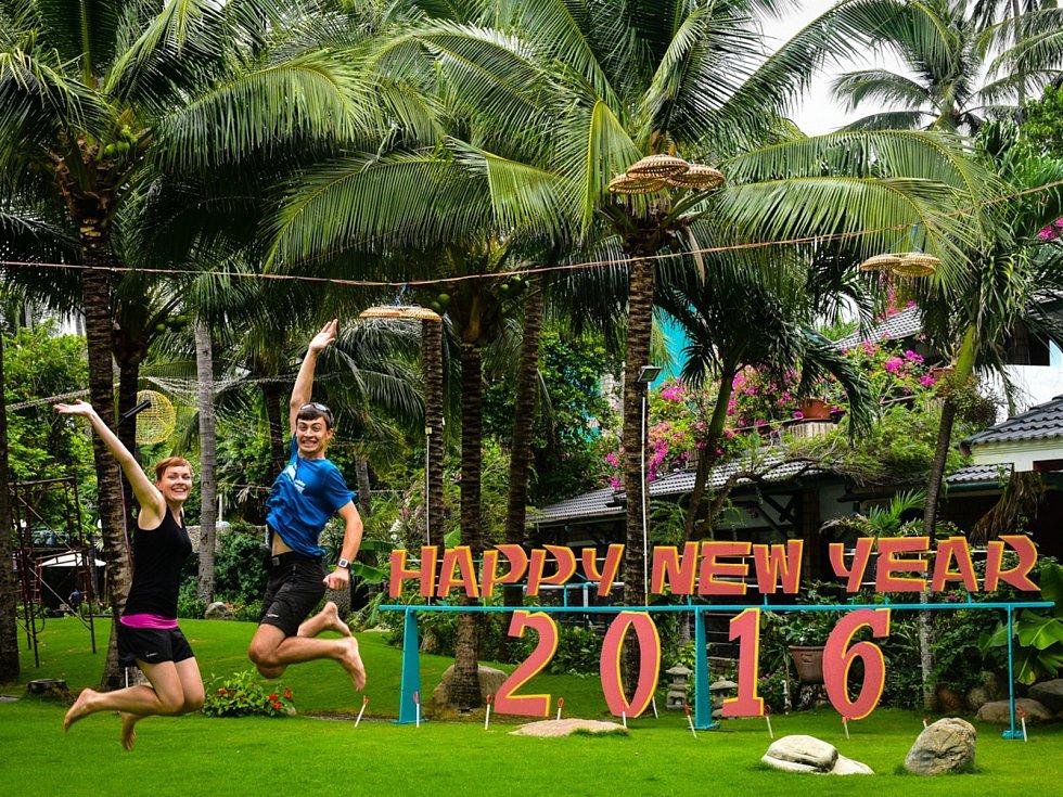 Manželé Wilhelmovy přejí šťastný nový rok.