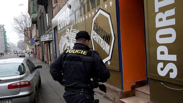 Přepadená herna v ulici Milady Horákové