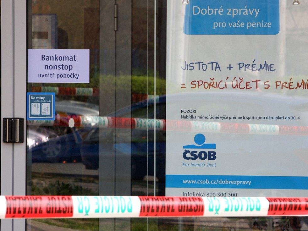 Neúspěšné přepadení banky ČSOB v Brně.