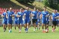 Trénink fotbalistů Zbrojovky před nadcházející sezonou.