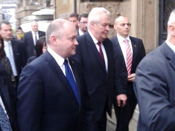 Prezident Miloš Zeman přijel do Brna.