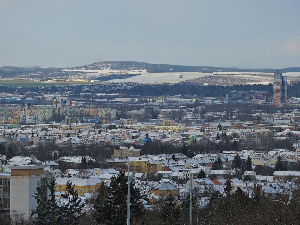 Zasněžené Brno.