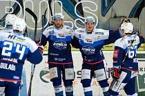 HC Kometa Brno v modrém proti HC Sparta Praha.
