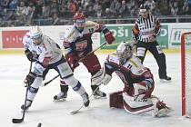Brněnští hokejisté v utkání 28. extraligového kola zdolali na domácím ledě Hradec Králové 4:3.