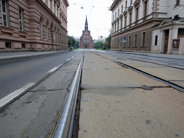 Husova ulice v Brně.