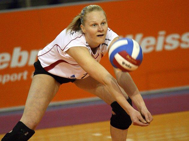 Smečařka. Šárka Melichárková se svými spoluhráčkami táhne brněnský tým do finále.