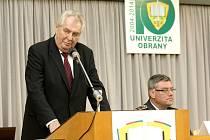 Prezident Miloš Zeman přijel na návštěvě v Brně.