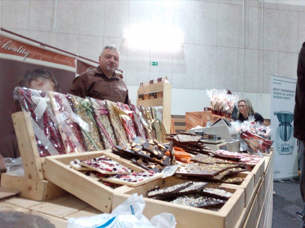 Čokoládová festival v brněnských Tuřanech.