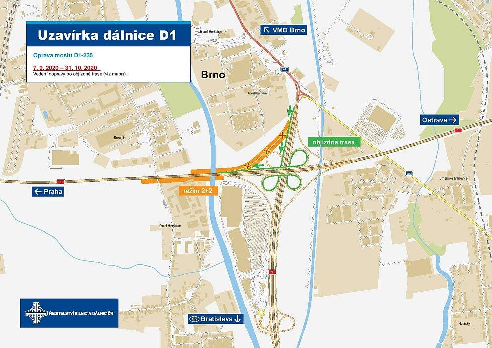V pátek skončilo omezení na D1 u Brna.