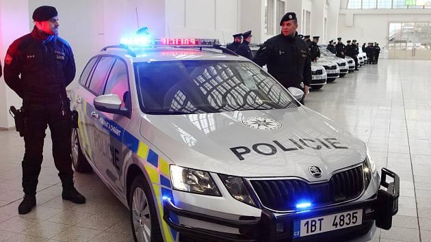 Jihomoravští policisté mají nová auta. Poznáte je podle majáků