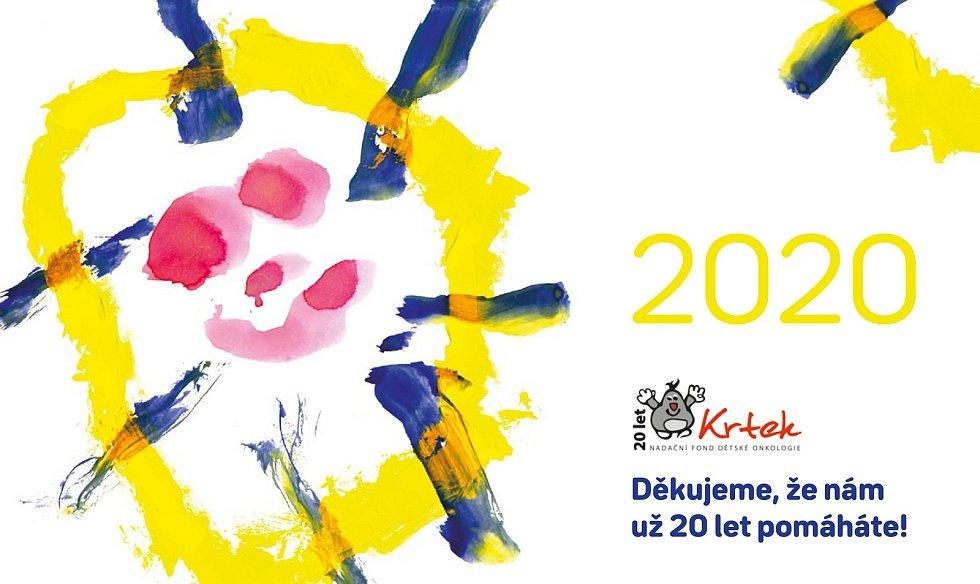 Malby dětí zdobí stránky kalendáře pro rok 2020, který vydává Nadační fond dětské onkologie Krtek. Výtěžek z prodeje kalendářů, které budou k mání od dvanáctého prosince 2019, poputuje právě nemocným dětem.
