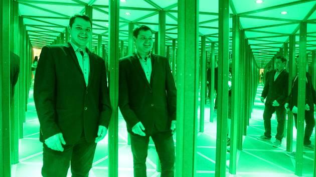 Zrcadlové bludiště v brněnském OC Letmo. 23.6.2020