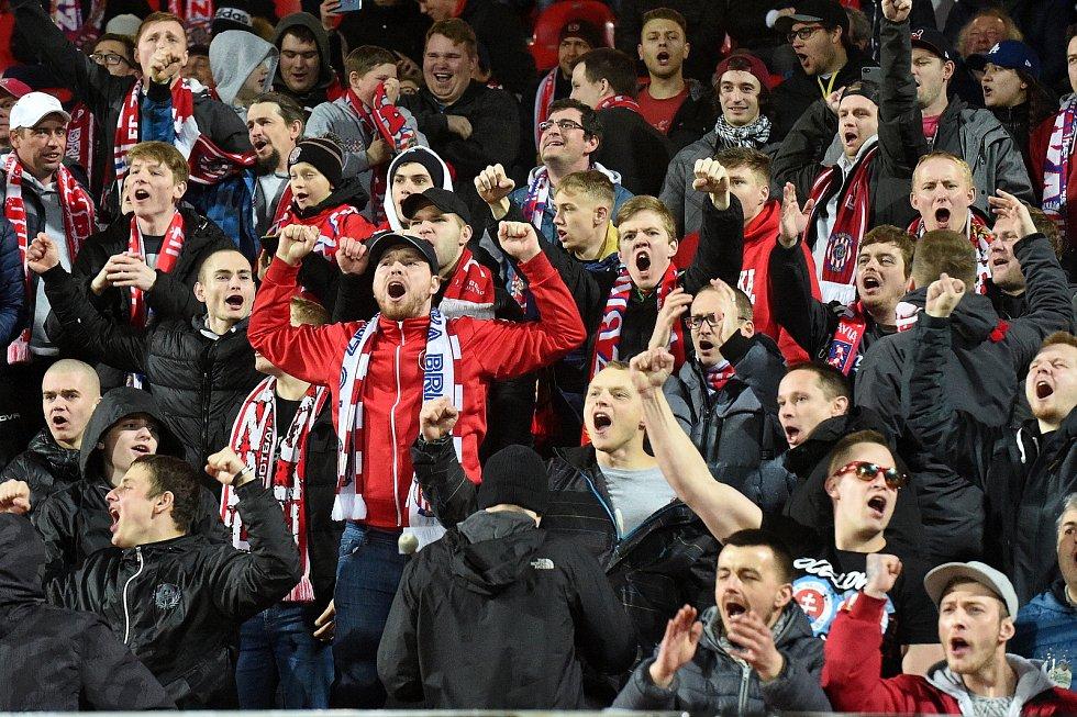 Brno 10.3.2019 - FC Zbrojovka Brno (červená) - FK Viktoria Žižkov