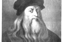Leonardo da Vinci - dobová kresba.