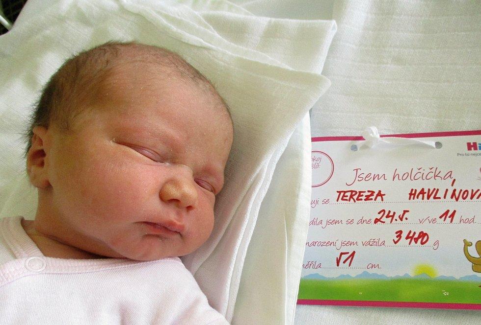 Tereza Havlínová, 24. května 2021, Kobylí, Nemocnice Břeclav, 3480 g, 51 cm