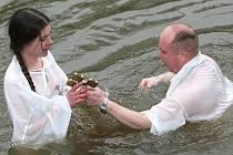 Pravoslavní věřící oslavili Svátek Zjevení Páně.