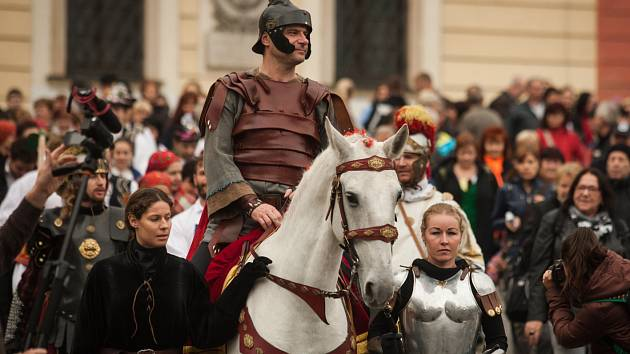 Svatomartinské slavnosti začaly v Brně průvodem z Petrova.