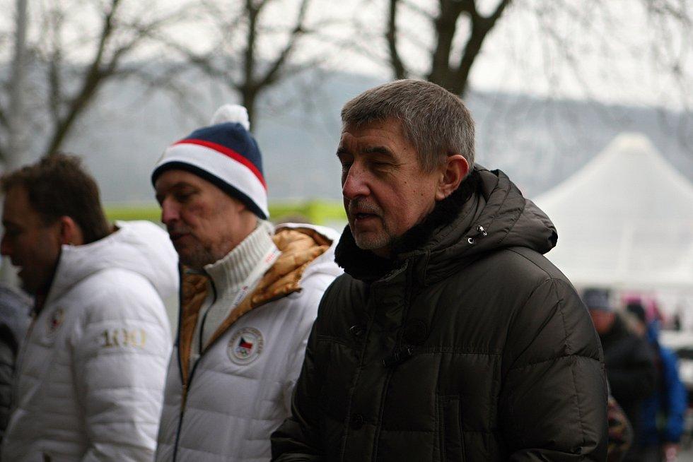 Oympijský park na brněnském výstavišti zahájil i premiér v demisi Andrej Babiš.