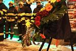 Pietním aktem uctili brněští hasiči své tragicky zemřelé kolegy.