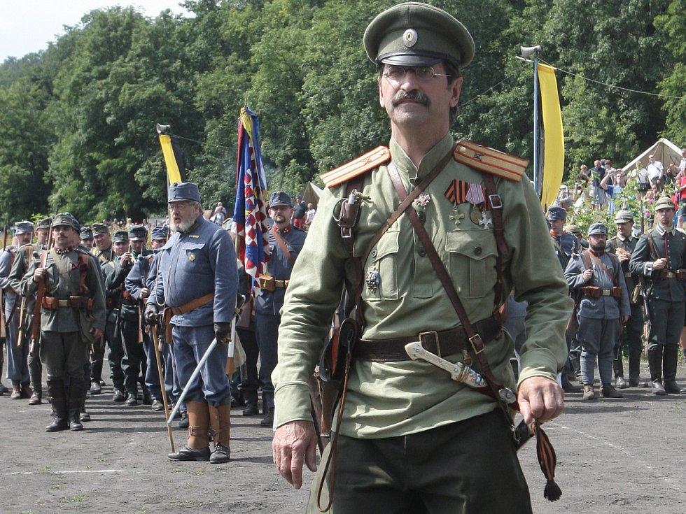Manévry vojsk při příležitosti stoletého výročí začátku prvvní světové války v Brně.