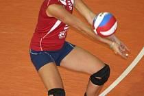 Volejbalistka SG Brno Valentýna Kuchařová.