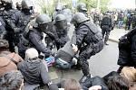 Účastníci akce Brno blokuje.
