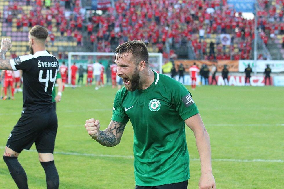 Odveta baráže o první ligu mezi 1. FK Příbram a Zbrojovka Brno.